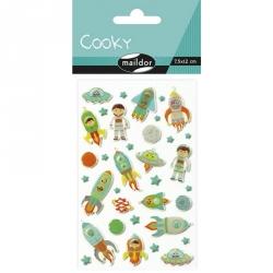 Cooky stickers - Fusée