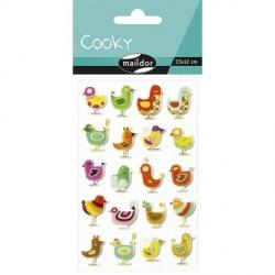 Cooky stickers - Oiseaux