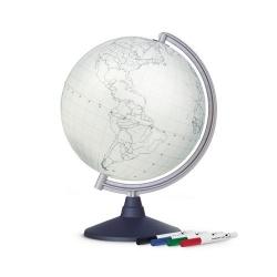 Globe blanc à colorier - Tecnodidattica
