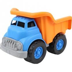Camion benne bleu et orange