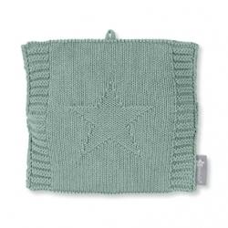 Bouillotte en tricot vert