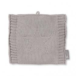 Bouillotte en tricot gris