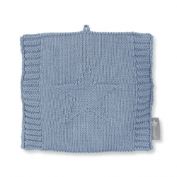 Bouillotte en tricot bleu