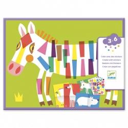 Créer avec des stickers - les grands animaux
