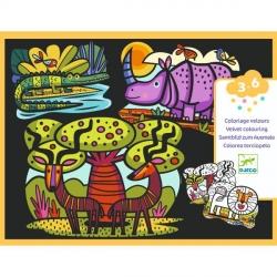 Coloriages velours - Animaux de la savane