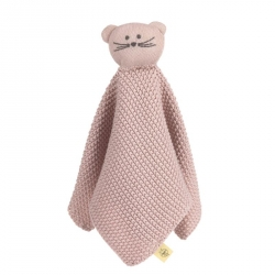 Doudou tricoté Little chums chat