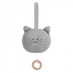 Peluche musicale tricotée Little chums chat