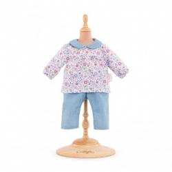Vêtement blouse fleurie et pantalon Bébé 42cm