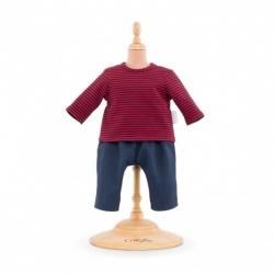 Vêtement marinière et pantalon Bébé 36cm