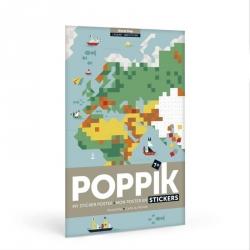 Mon poster en stickers - Carte du monde