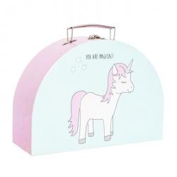 Valise en carton licorne