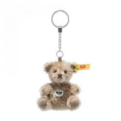 Porte-clé ours Teddy mohair blond 8 cm