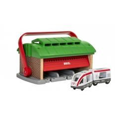 Garage pour trains portatif