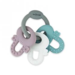 Hochet de dentition - Trousseau de clés en silicone