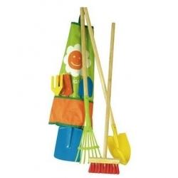Outils de jardin dans un sac
