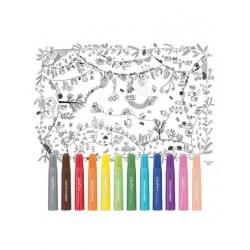 Nappe à colorier - La forêt enchantée