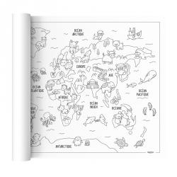 Poster géant à colorier - Voyage autour du monde