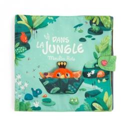 Dans la jungle - Grand livre en tissu d'activités