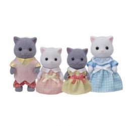Sylvanian Families - Famille chat persan bicolore