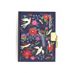 Carnet secret oiseaux et fleurs