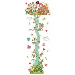 Toise stickers - Jeune fille au jardin