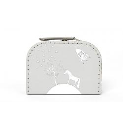 Petite valise licorne grise