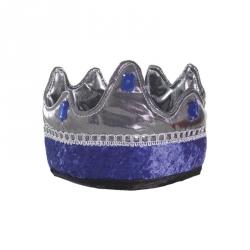 Déguisement - Couronne de Roi bleu/argenté