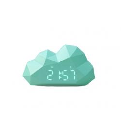 Cloudy clock bleu