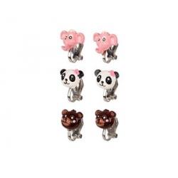 Boucles d'oreille à clips animaux