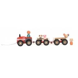 Tracteur de la ferme en bois