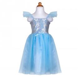 Déguisement - Princesse sequins bleue 7/8 ans