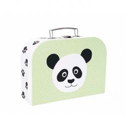 Valise en carton safari - Panda/Lion
