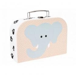 Valise en carton safari - Eléphant/Tigre
