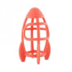 Fusée en silicone orange