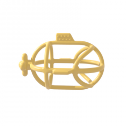 Sous-marin en silicone jaune