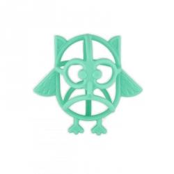Hibou en silicone bleu