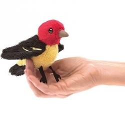 Marionnette à doigt oiseau rouge