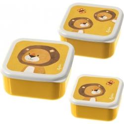Set de 3 boites à goûter lion