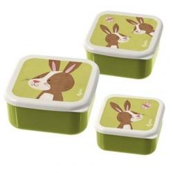 Set de 3 boites à goûter lapin