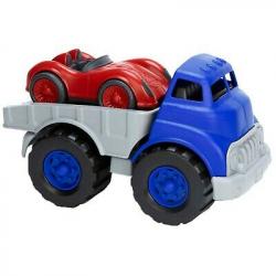 Camion remorque avec voiture de sport