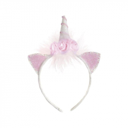 Déguisement - Serre-tête licorne rose