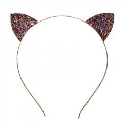 Déguisement - Serre-tête chat paillettes