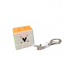 V-Cube porte-clés lisse