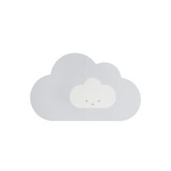 Tapis en mousse - La tête dans les nuages gris S