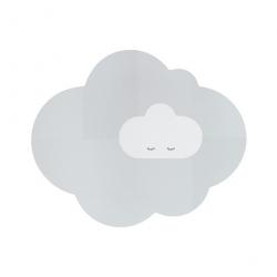 Tapis en mousse - La tête dans les nuages gris L