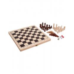 Jeux classiques 3 en 1 en bois
