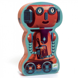 Puzzle silhouette 36 pièces - Bob le robot