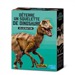 Déterre un squelette de dino - Velociraptor