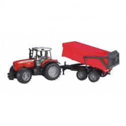 Tracteur Massey Ferguson 8240 avec remorque