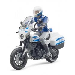 Scrambler Ducati police avec officier